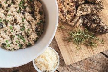 Opskrift på svampe risotto med stegt kylling
