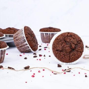 Chokolademuffins - Opskrift på svampede chokolademuffins