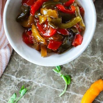 Sød syltede peberfrugter med chili - Opskrift på syltet chili