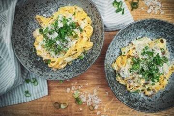 Opskrift på cremet pasta med kalkun