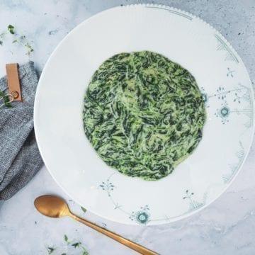 Opskrift på stuvet spinat med frisk spinat
