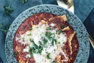 Opskrift på den bedste lasagnesuppe
