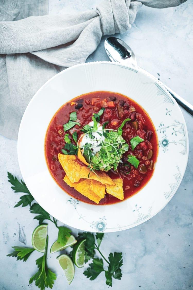 Opskrift på lækker mexicansk bønnesuppe