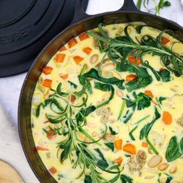 Hvid bønnesuppe - Opskrift på hvid bønnesuppe