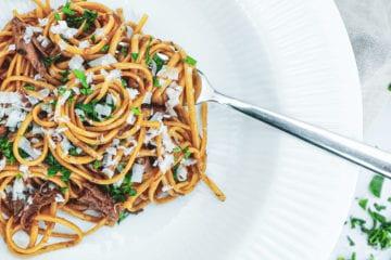 Opskrift på den lækreste pasta med anderagout