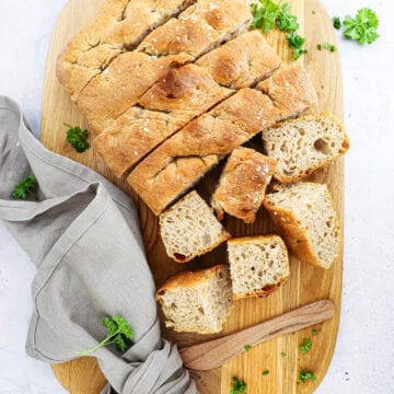 Focaccia brød - Opskrift på hurtig og nem focaccia brød