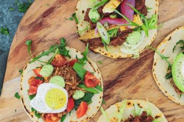 Opskrift på hjemmelavede mini tortillas med mexicansk fyld