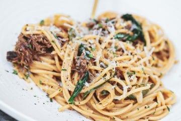 Pulled beef pasta - Opskrift på cremet pasta med pulled beef