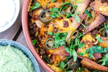 Tortilla supreme med oksekød - Opskrift alla nachos supreme