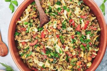 Oksekød med kål - Opskrift på sund og lækker aftensmad