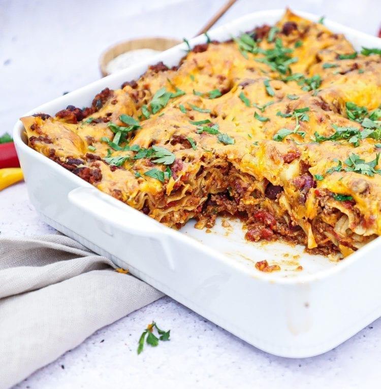 Mexicansk lasagne - Opskrift på den bedste mexicanske lasagne