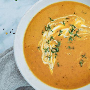 Butternut squash suppe - Opskrift på lækker cremet suppe
