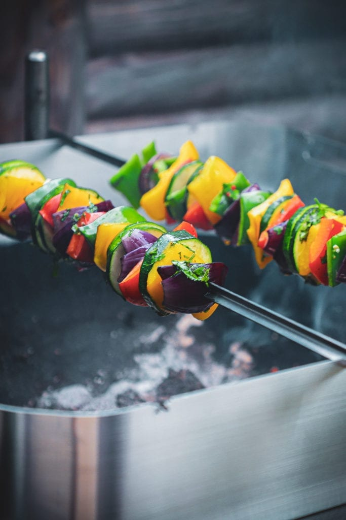 Grøntsagsspyd - Opskrift på lækre grillspyd med grøntsager