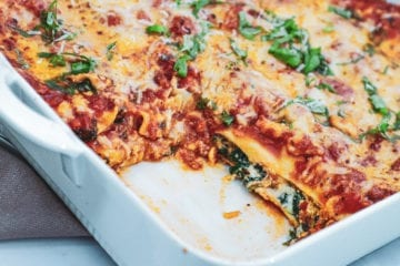 Cannelloni - Opskrift med spinat, ricotta og tomatsauce