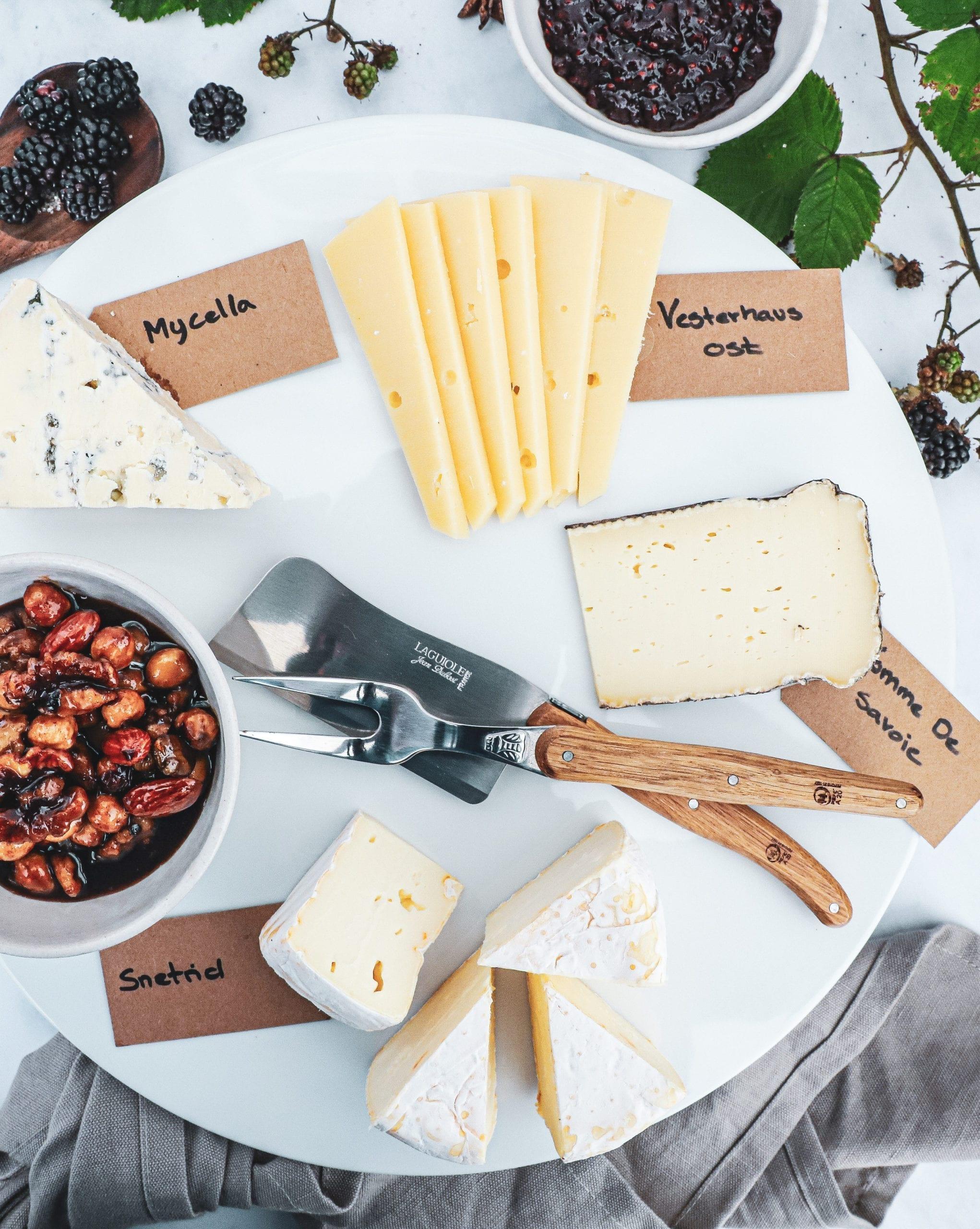 Ostetallerken - Inspiration til et godt ostebord
