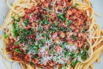 Vegetar bolognese - Opskrift på skøn linse bolognese