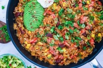 One pot mexicansk risret - Opskrift på mexicansk vegetarret