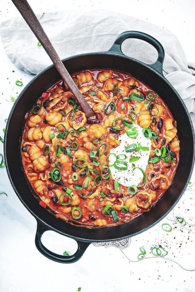 One pot pasta vegetar - Opskrift på mexicansk vegetar pastaret