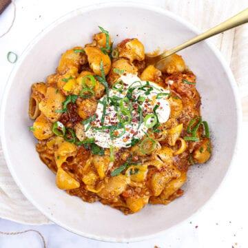 Mexicansk one pot pasta - Opskrift på one pot pasta med oksekød