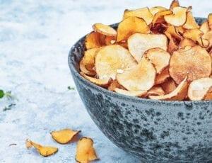 Sprøde jordskokke chips