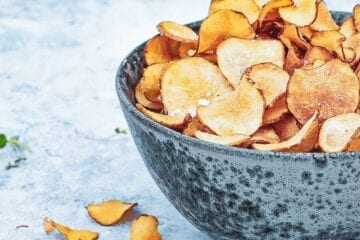 Jordskokke chips - Opskrift på fritterede jordskokker