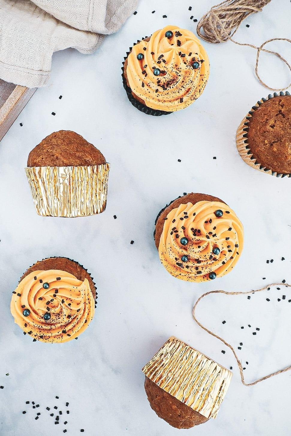 Græskarmuffins - Opskrift på halloween muffins med græskar