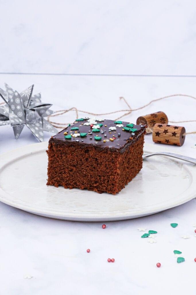Chokoladekage med kanel og appelsin - Opskrift på julekage