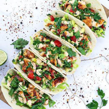 Fiske tacos - Opskrift på mexicanske tacos med laks