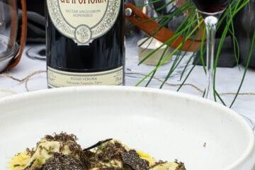 Masi Campofiorin - Opskrift med ravioli, osso buco og trøffel