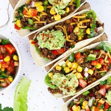 Mexicanske tacos - Opskrift på tacos med krydret oksekød