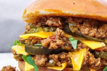 Sloppy Joes burger - Opskrift på Sloppy Joes burger