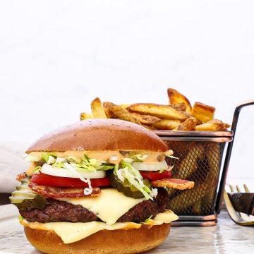 Hjemmelavet Big Tasty Bacon - Opskrift på Big Tasty Burger