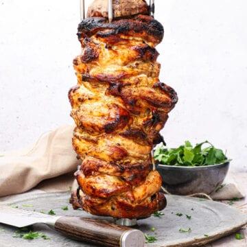 Hjemmelavet kyllinge shawarma - Opskrift på kyllinge kebab