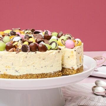 Påske cheesecake - Opskrift på cheesecake med citron og chokolade