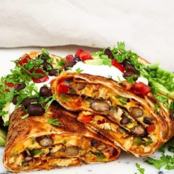 Mexicansk tortilla æggewarp - Opskrift på mexicansk tortilla